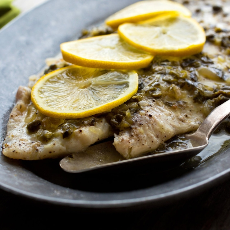 Oven baked fish in white wine for Fish in oven